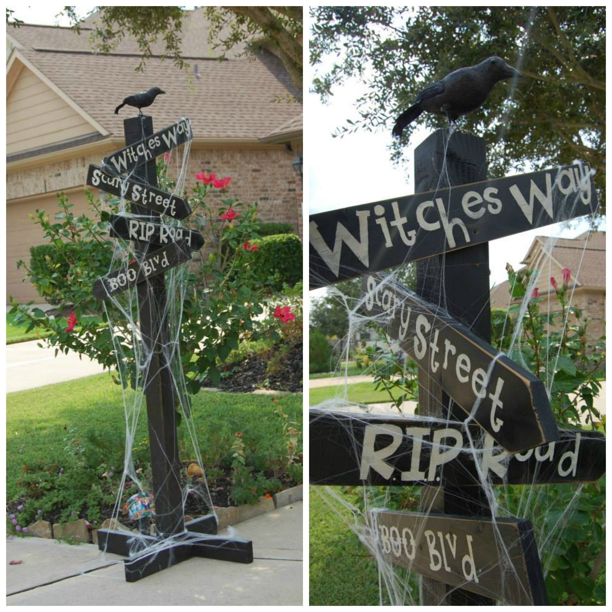 Halloween scary sign for outdoor decorating Halloween Pinterest - outdoor halloween decorating ideas