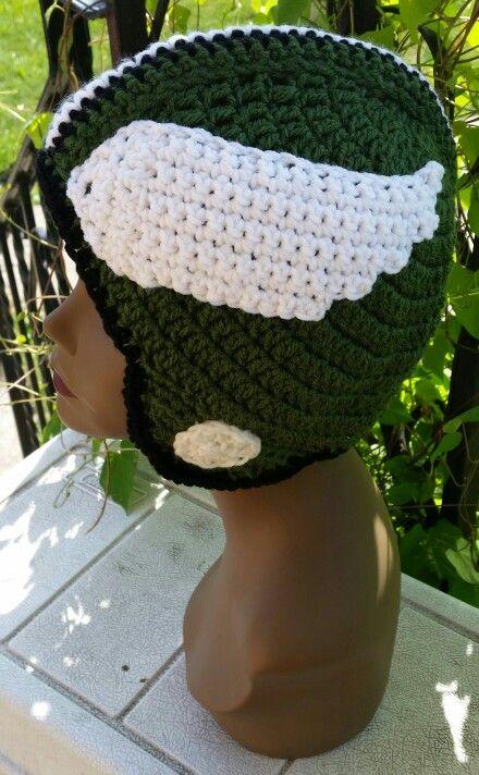 162a16d37f137 Crochet Philadelphia Eagles Helmet MadebyMe Maria sCrochetCreations ...