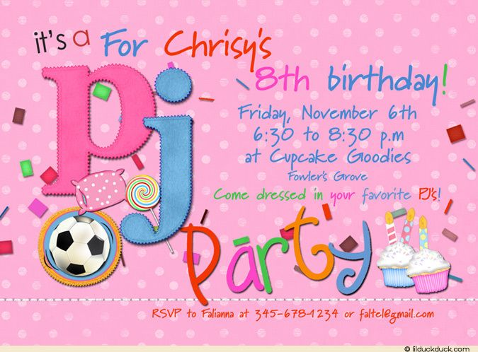 nice free template 8th birthday party