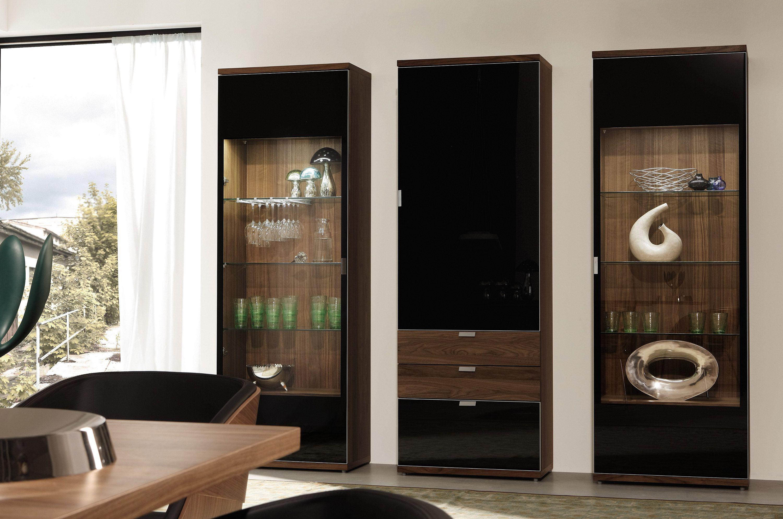 huelsta moebel hulsta furniture tameta vitrine cabinet kernnussbaum glas schwarz lackiert core. Black Bedroom Furniture Sets. Home Design Ideas