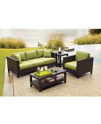 Belize Outdoor Patio Furniture Seating Sets  Pieces Patio - Macy outdoor furniture