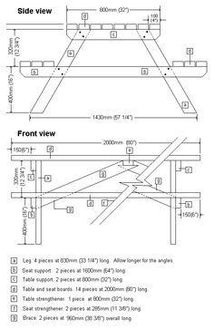 Picnic table plans ahap leri pinterest picnic table plans picnic table plans ccuart Choice Image