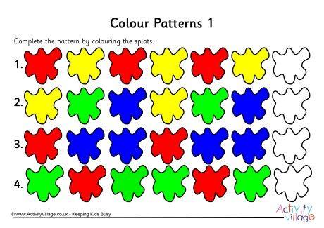 Colour patterns worksheet 1 | Numeracy Ideas | Pattern ...