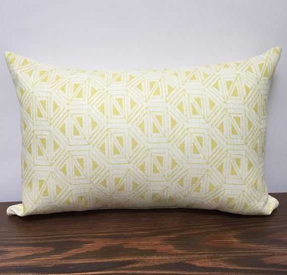 Bright Yellow Chevron Pillow Covers
