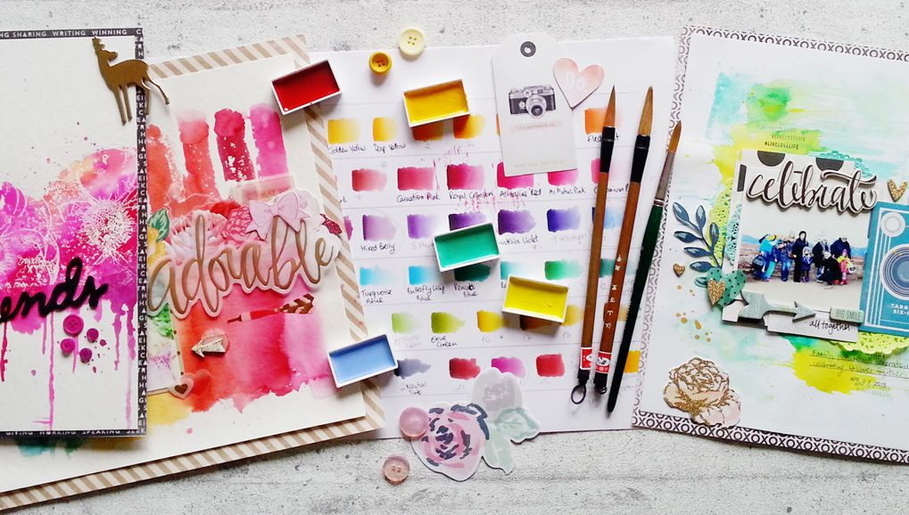 Big Picture Classes   Watercolor Backgrounds: Splendid Splatters