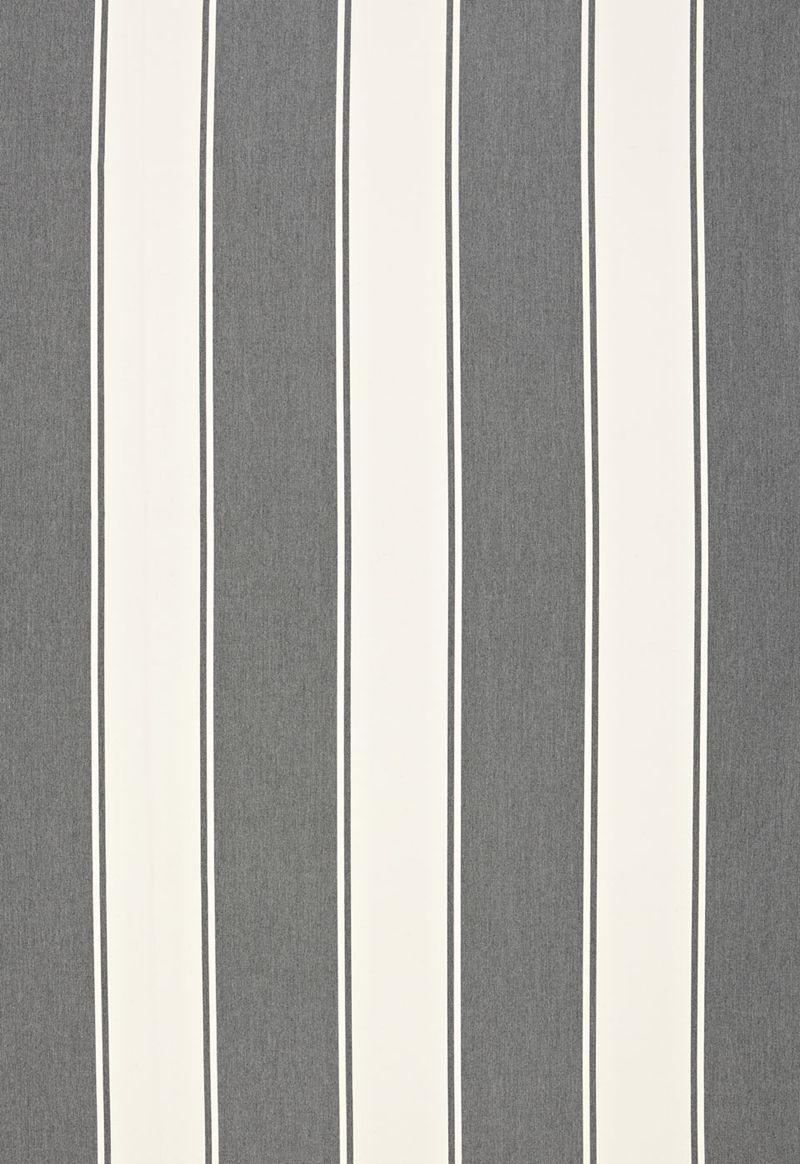 65890 Cannes Awning Stripe Oxford Grey By Schumacher Fabric Schumacher Fabric Schumacher Outdoor Fabric