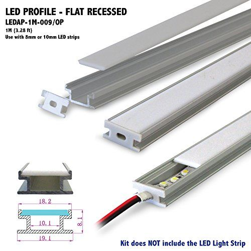 1m 328 ft flat recessed aluminum led profile with opal matte alternative led strip inside wire casing and hot glued acrylic sheet on top mozeypictures Image collections