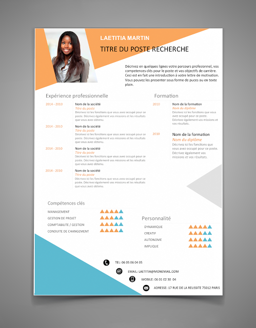 Les 50 Meilleurs Exemples De Cv Pour 2016 Stagepfe Best Resume Template Free Resume Template Word Creative Cv Template