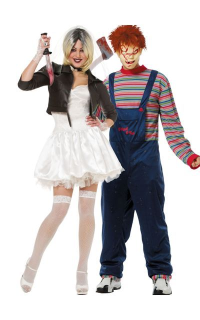 Costume Halloween Duo.Bride Of Chucky And Chucky Couples Costumes Party City Costumes