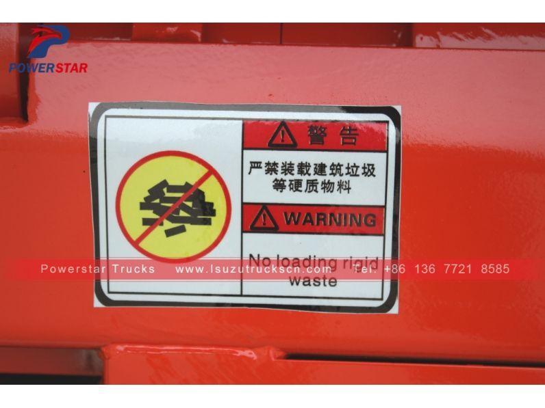 New Style Mongolia Isuzu Carriage Detachable Garbage Hooklift