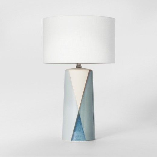 This project 62 ceramic dipped table lamp blue includes cfl bulb warm tone piece adds charm to your traditional or contemporary home d this hand dipped