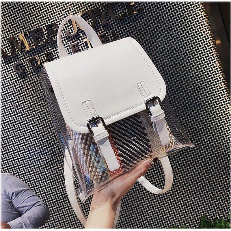 White Clear Bag Summer Fashion Backpack | Moda mochila
