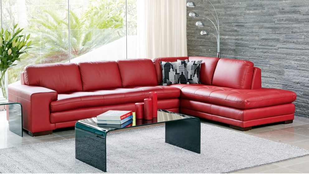 Dylan 3 Seater Leather Lounge Suite
