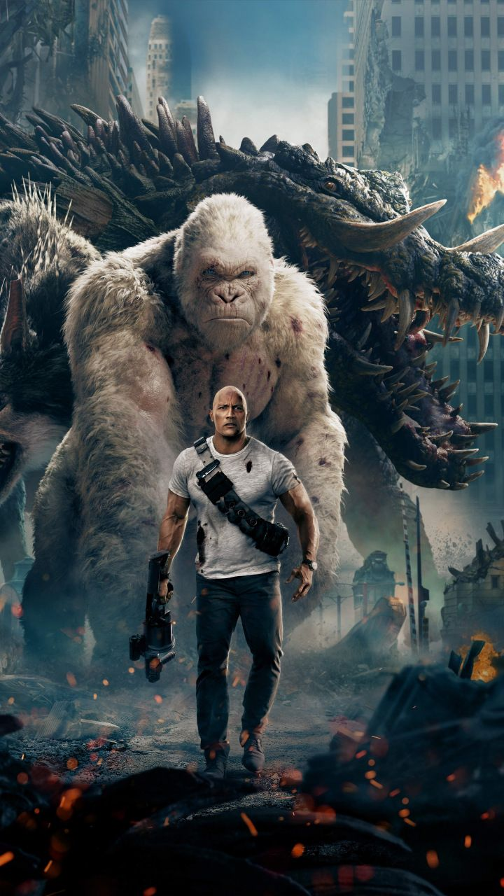 Movie rampage 2018 official poster 720x1280 wallpaper - Movie poster wallpaper ...