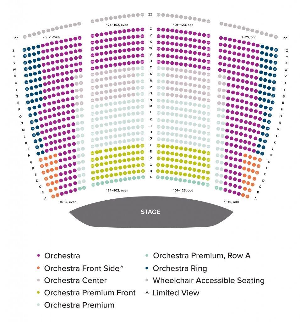War Memorial Opera House Seating Chart