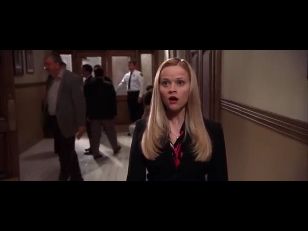 Reese Witherspoon Elle Woods Legally Blonde Hairstyle