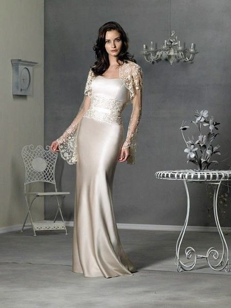 Fetching Sweetheart Floor Length Two Pieces Lace Coat Elegant Mother Of Brides Dress In Canada