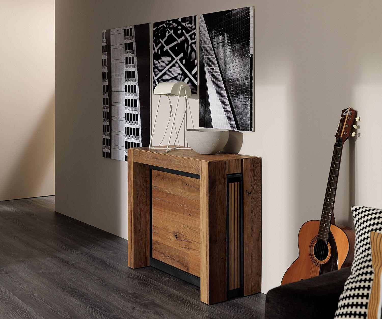 Die Ozzio Konsole A4 Ist Ein Innovativer Designer Tisch Und Kann Im  Handumdrehen Zu Einem Esstisch Für 12 Personen Werden. #tisch #esstisch  #wohnzimmer ...