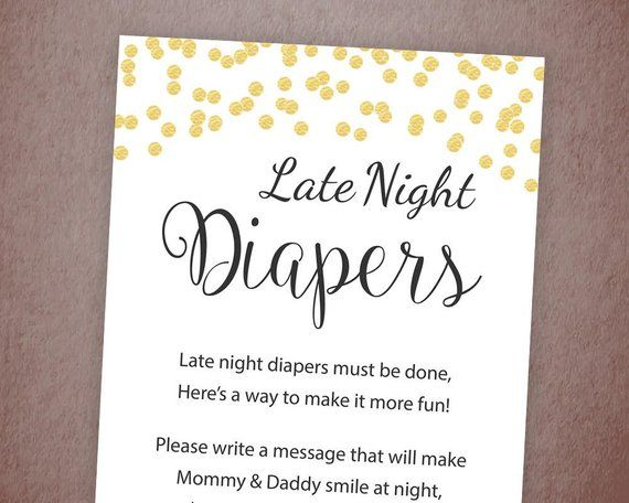 graphic regarding Late Night Diapers Printable named Late Night time Diapers Signal, Diaper Concerns Sport Printable