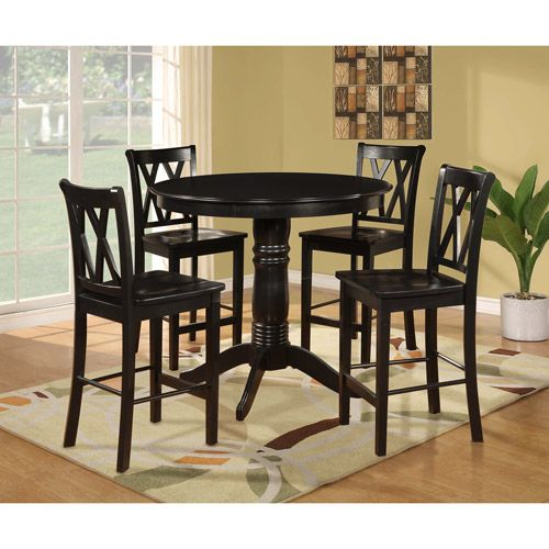 My Future Dining Room Table!! Colonial 5 Piece Pub Dining Set, Black