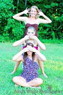 Family Photography, cute idea, hear no evil, speak no evil, see no evil