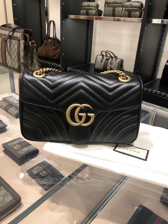 484601c0093f Gucci GG Marmont Matelassé Bag 443497 Black | discount price gucci ...