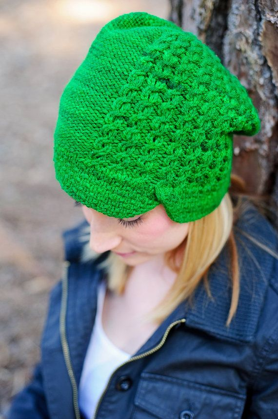 Slouchy Hat Knitting Patterns Pinterest Slouch Hats Knitting