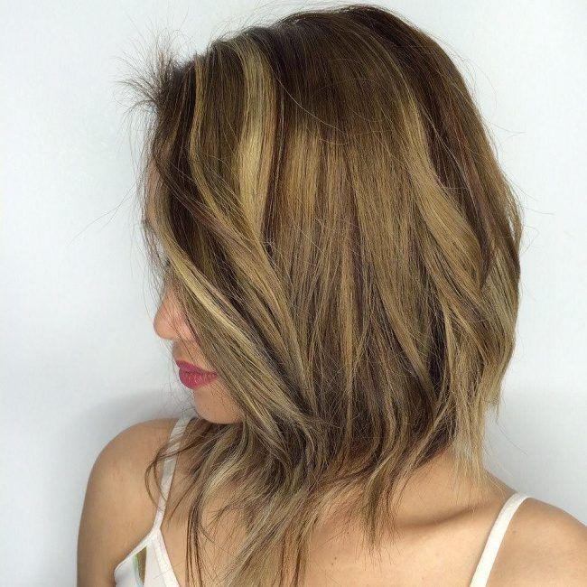 Messy Golden Bob | Permed hairstyles, Digital perm, Hair styles