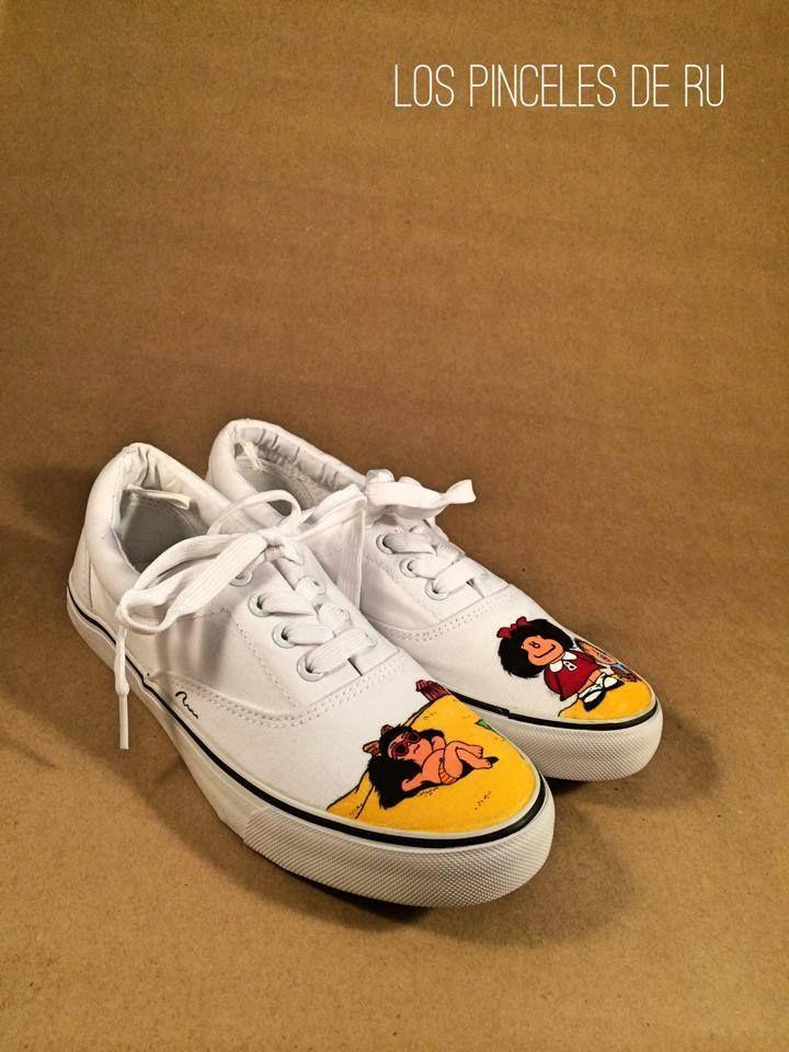 Zapatillas Vans personalizadas de Mafalda pintadas a mano. Todos los  beneficios son destinados a un b29d823a20f
