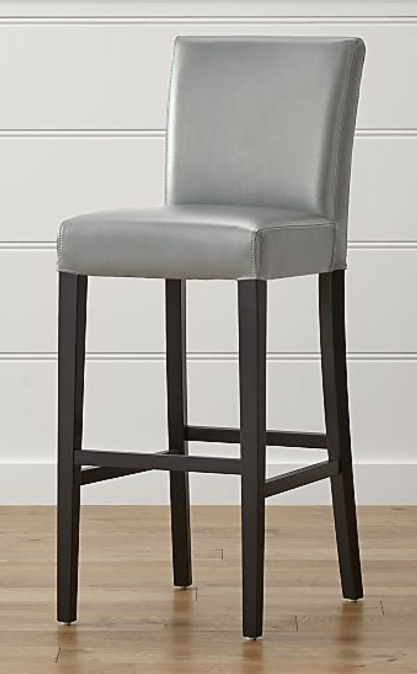 Lowe Pewter Leather Bar Stool Reviews Crate And Barrel Kitchen Bar Stools Comfortable Bar Stools Grey Bar Stools Gray leather bar stools