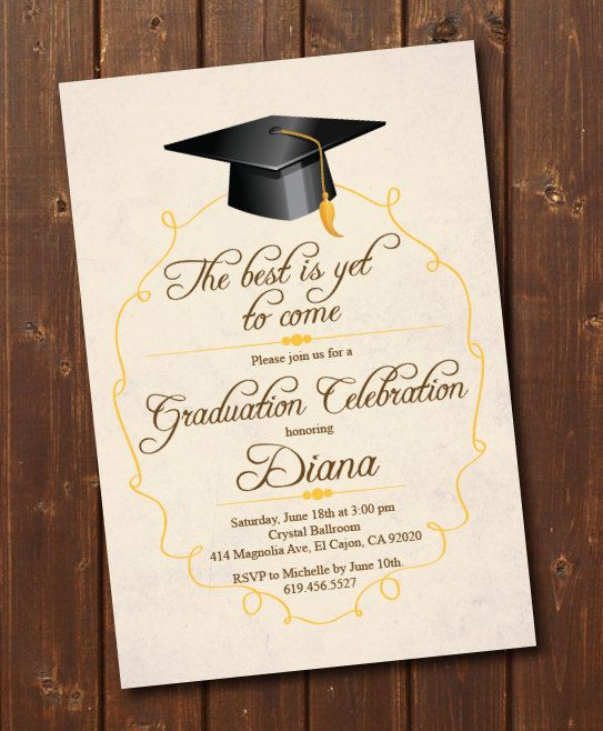 Class Of 2021 High School College Graduation Invitation Card Printable Graudation Announcement Template Graduation Card Print At Home Ecard Graduation Invitations Template Graduation Invitation Cards Graduation Invitation Wording