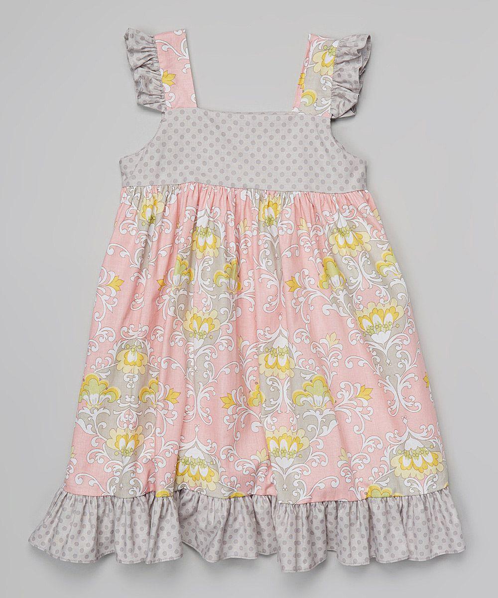 Look at this pink priscilla damask flutter dress infant toddler