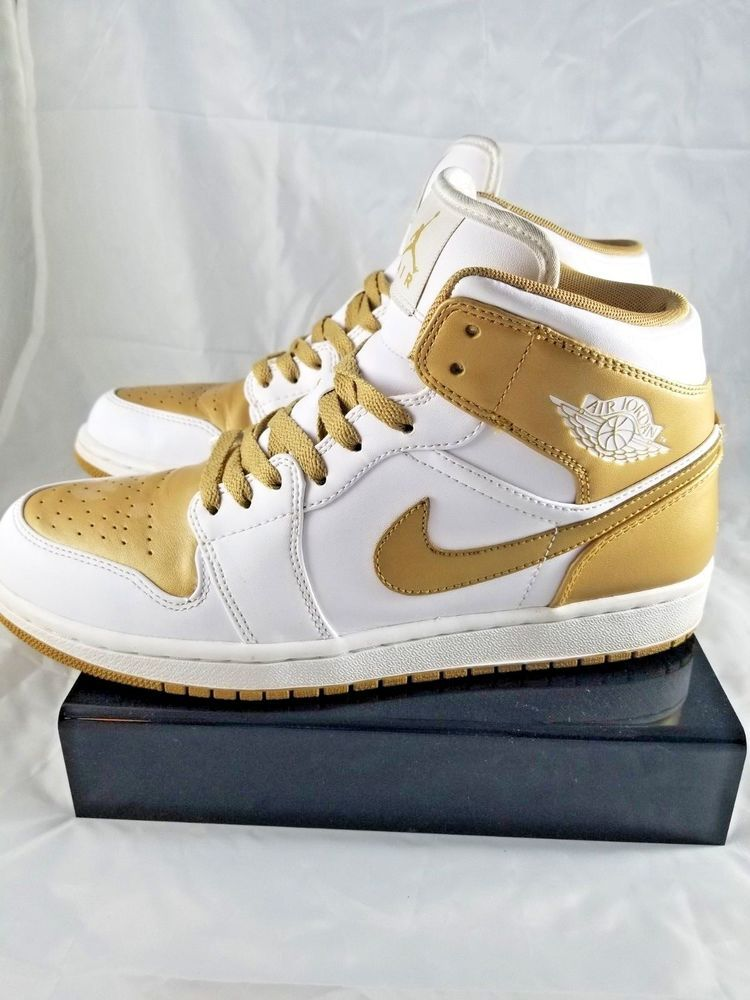 24a2f4e29cb ... usa nike air jordan 1 phat gold medal white retro one jumpman shoes mens  9.5 hi
