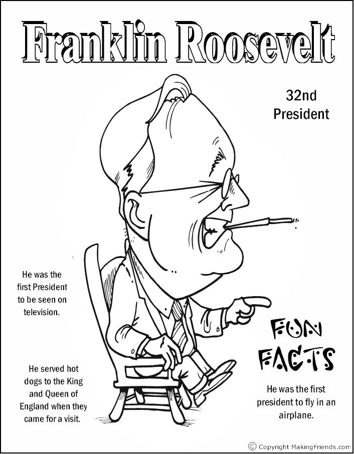 Fancy Coloring Pages Of Presidents 80 Franklin Roosevelt Coloring Page