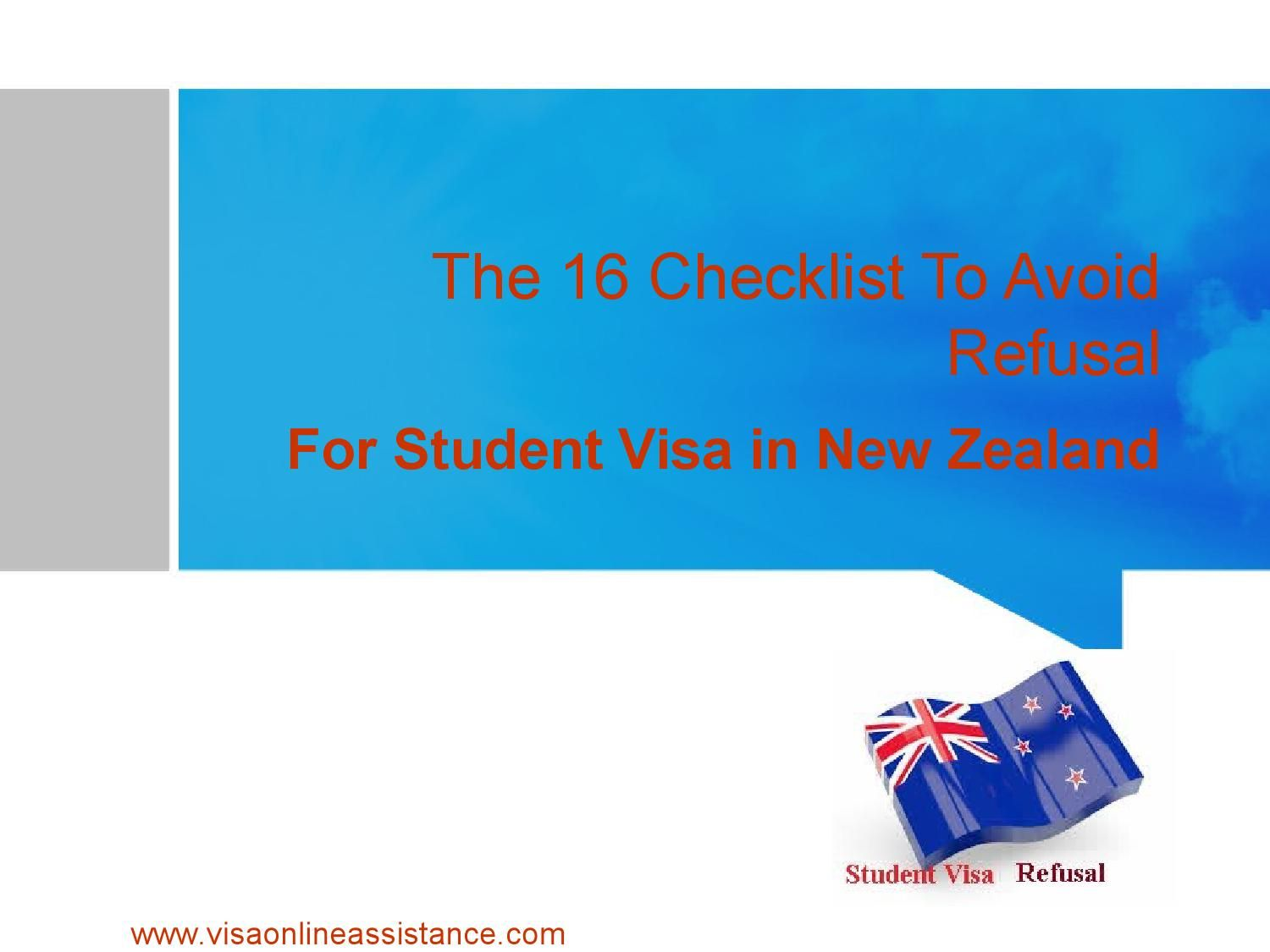 The 16 Checklist To Avoid Student Visa Refusal In New Zealand Work In New Zealand Study Abroad Student