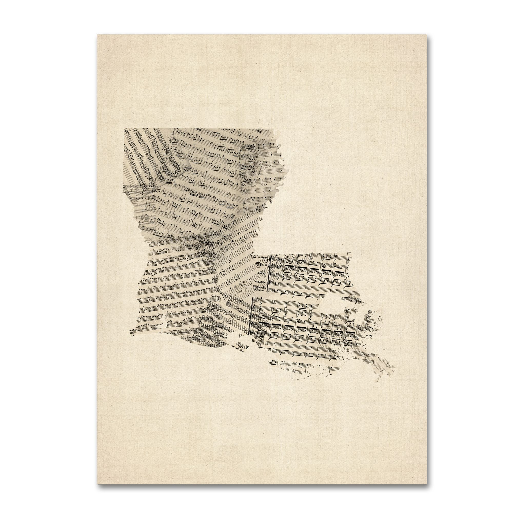 Michael tompsett old sheet music map of louisiana canvas wall art michael tompsett old sheet music map of louisiana canvas publicscrutiny Choice Image