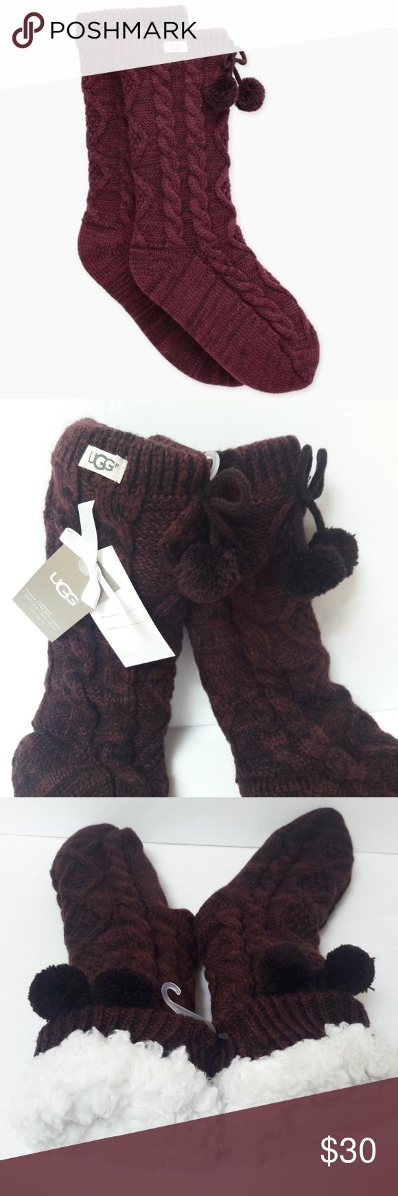 35465fbc82a New Burgundy UGG fleece lined Cozy Socks NWT in 2018 | My Posh Picks ...