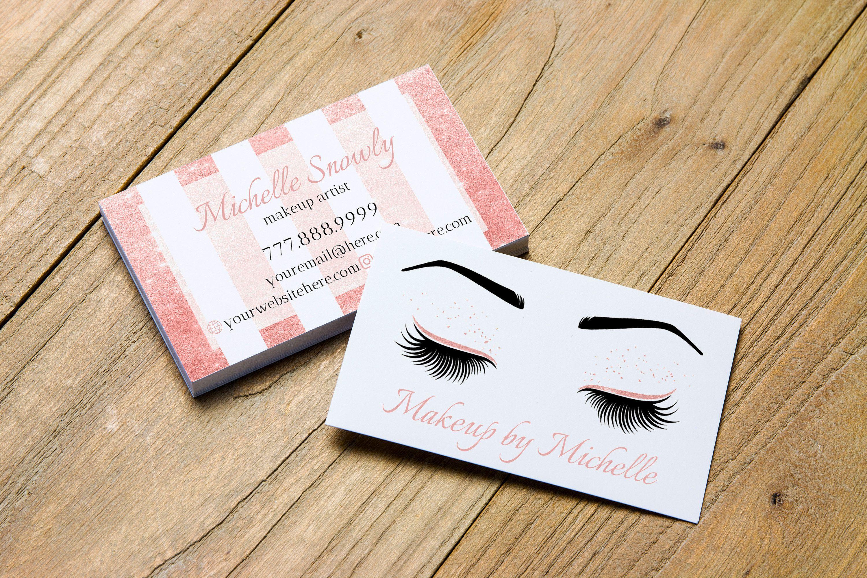 Rose Gold Business Card, Lash Artist Business Card, Lash