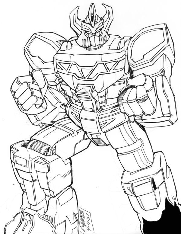 Megazord Toy Coloring Page Printables Pinterest Coloring For