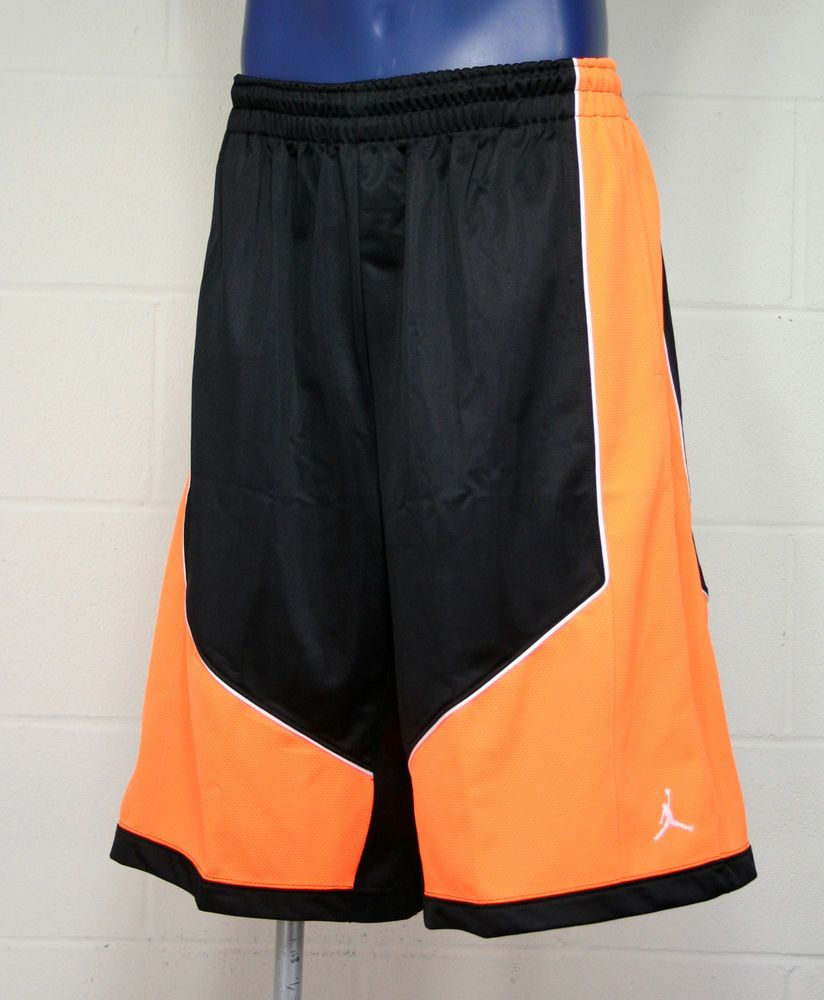 a996cc38e22 Air Jordan Nike Jumpman Lay-Up Mens Basketball Shorts Bright Orange/Blk  #404355 #Jordan #Athletic