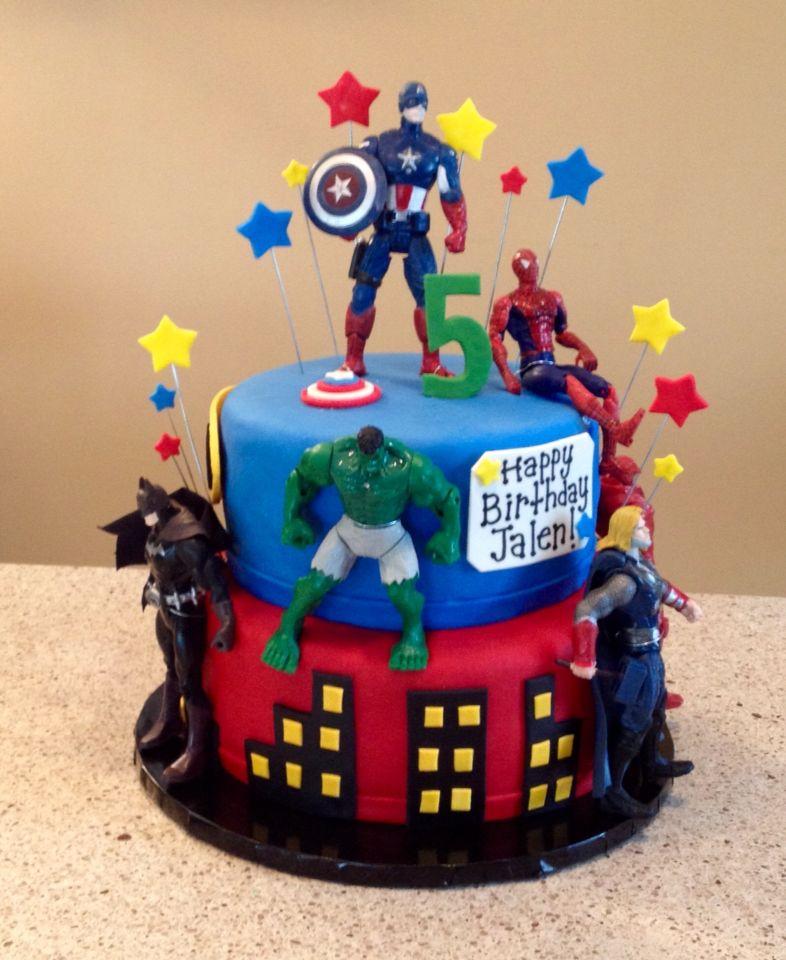 Super Avengers Cake With Images Superhero Birthday Cake Avengers Funny Birthday Cards Online Drosicarndamsfinfo