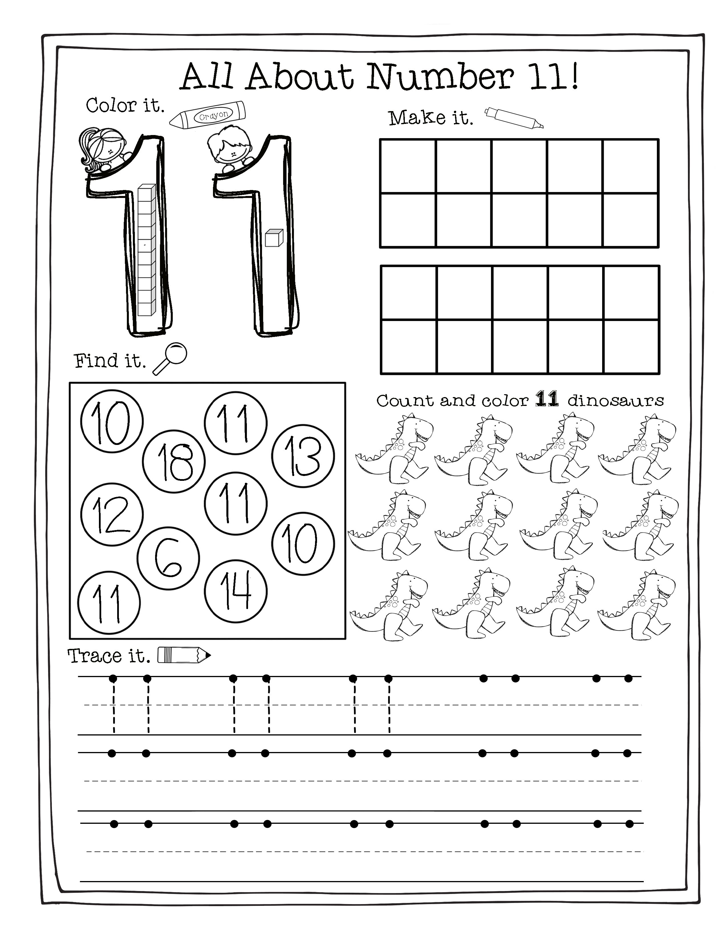 Teen Number Practice | Math Activities and Worksheets ...