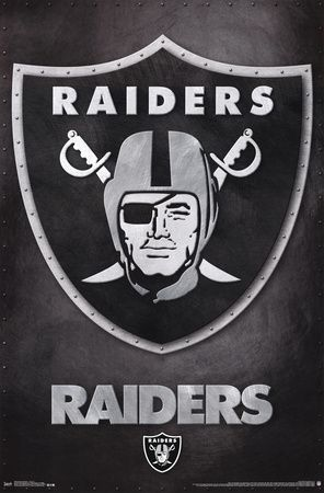 Oakland raiders logo nfl sports poster