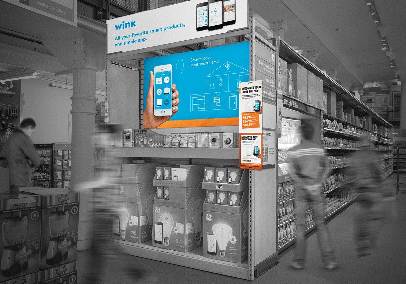 Wink Home Depot Retail End-Cap. | WINK BRANDING | Pinterest