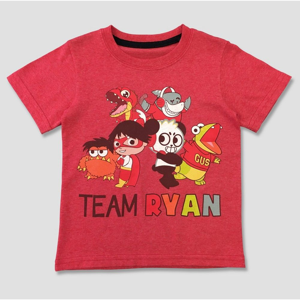 4T Ryans World Tshirt Red Titan And Gus