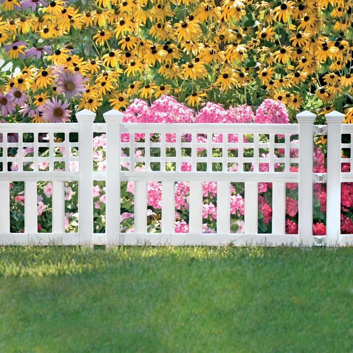 Garden Border Fence Three 24 In Sections In 2020 White Garden Fence Backyard Fences Fence Design