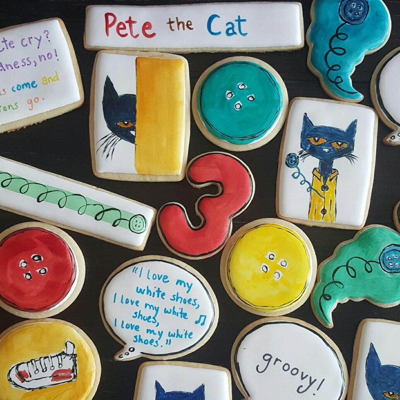 Pete The Cat Birthday Cookies