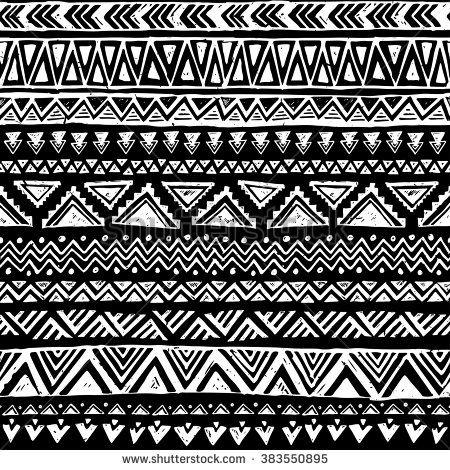 black and white tribal... Black And White Tribal Print Wallpaper