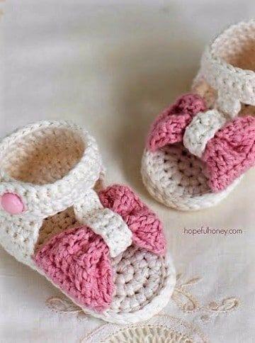 01337f98 Como hacer sandalias bebe crochet paso a paso con patrones | Calzado ...
