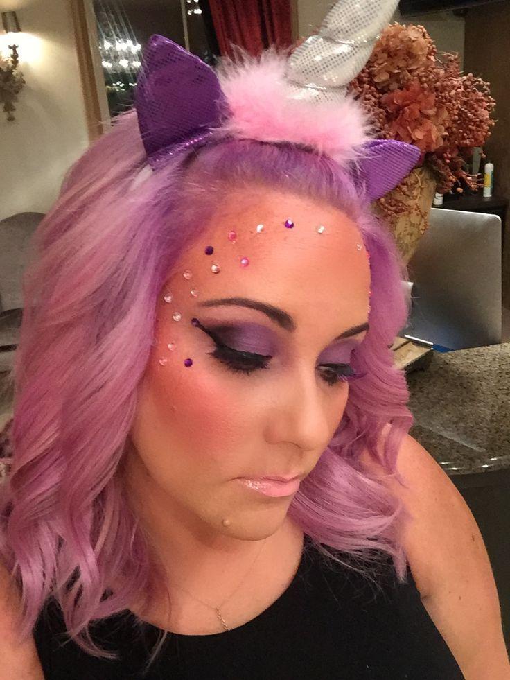 Unicorn make up and hair! Unicorn makeup halloween